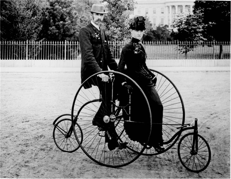 Picture Of Bicycle For Two 1886