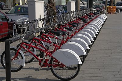 Picture Of Bicycle Parking In Barcelona