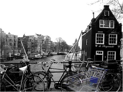 Picture Of Bicycles In Amsterdam