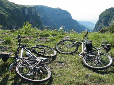 Picture Of Bicycles On Canyon