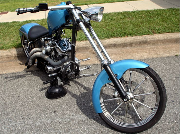 Picture Of Blue Motorbike