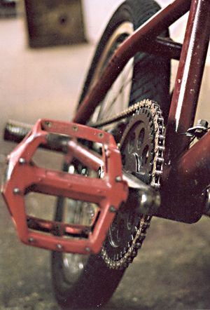 Picture Of Bmx Pedal And Wheel