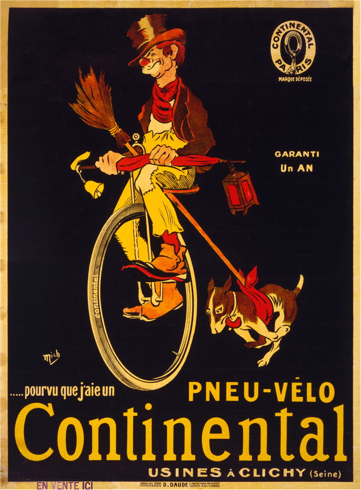 Picture of Continental Bicycle Tire Advertising Poster 1900