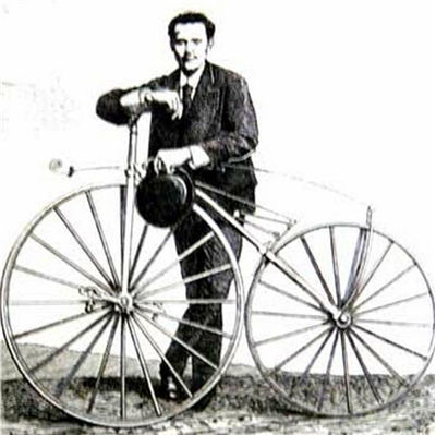 Picture Of Ernest Michaux And Michaudine Velocipede Invented In 1861