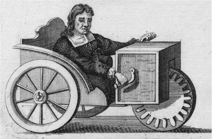 Picture of Hand Controlled Three Wheeled Wheelchair 1655