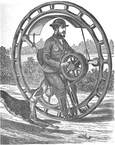 Picture of Hemming's Unicycle Flying Yankee Velocipede