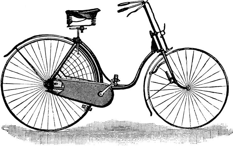 Picture Of Ladies Safety Bicycle From 1889