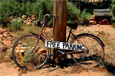 Picture Of Old Bicycle And Free Parking