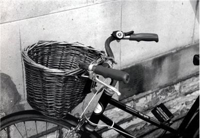 Picture Of Old Bicycle With Basket