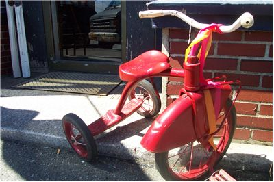 Picture Of Old Red Kid Bike