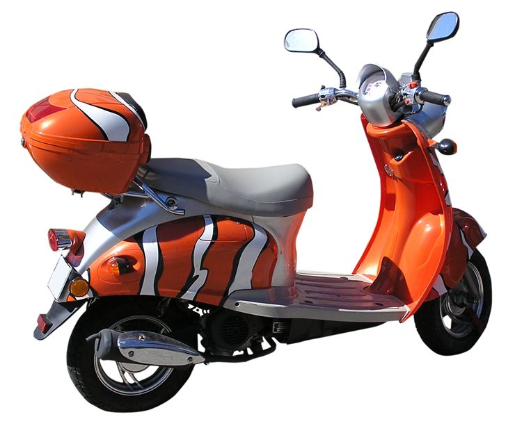 Picture Of Orange Scooter