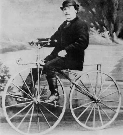 Picture Of Pierre Lallement On Bicycle 1870