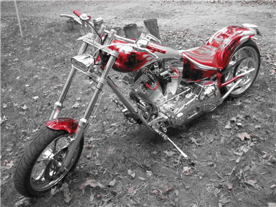 Picture Of Red Silver Motocycle