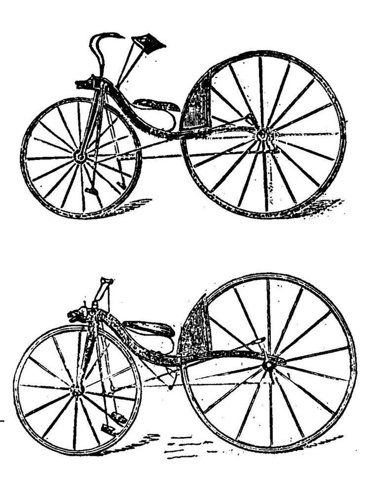 Picture Of Thomas Mc Call First And Improved Velocipede Of 1869