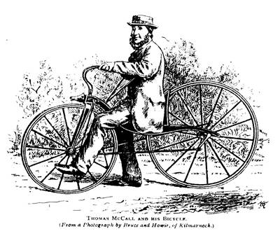 Picture Of Thomas McCall On His Velocipede  In 1869
