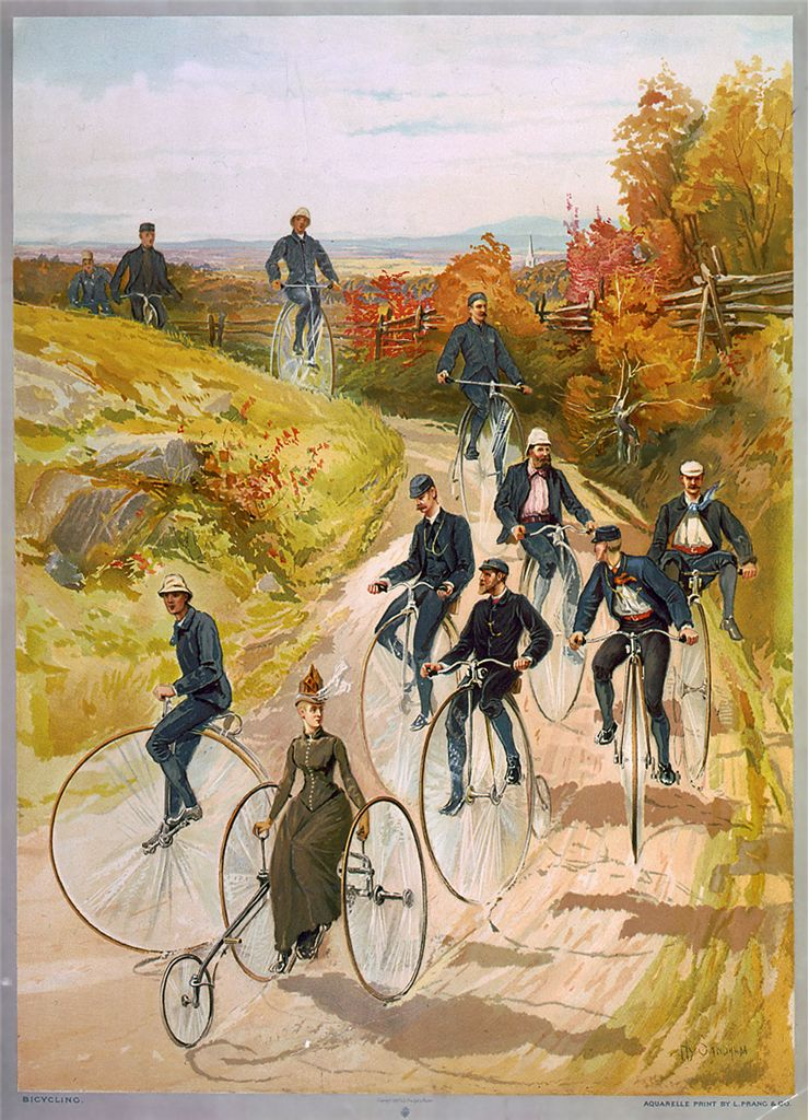 Picture Of Touring The Countryside 1887