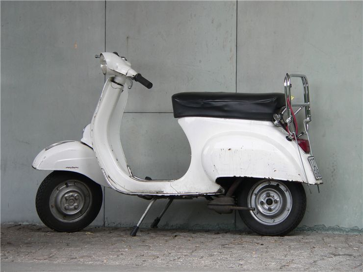 Picture Of White Scooter